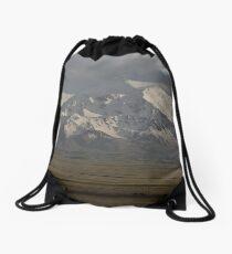 Pamirs at dusk, Sary Tash Drawstring Bag