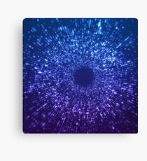 Sci Fi Abstract Outer Space Universe Blue Canvas Print