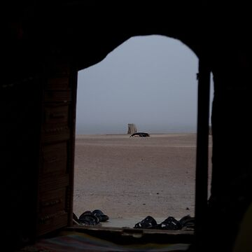 Through the yurt door by Scully