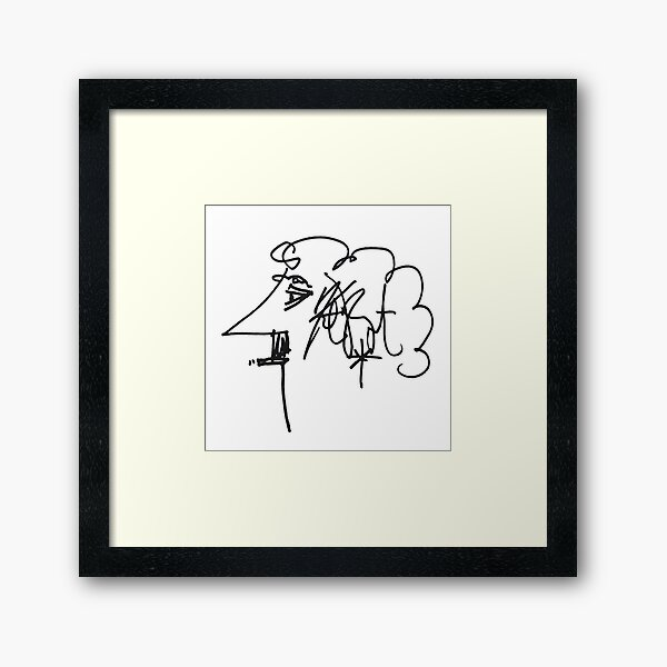 Kurt Vonnegut Framed Art Print