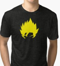 SuperSaiyan Hairstyle Angry yellow power beat evil warrior  Tri-blend T-Shirt