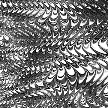 Black and white 3D abstract  by MarbledDesign
