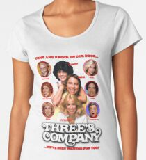 THREE'S COMPANY Come and knock on our door Women's Premium T-Shirt