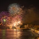 Fireworks at the Fiesta del Carmen 5 by Ralph Goldsmith