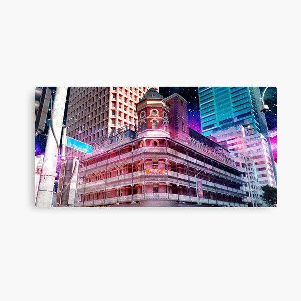 Space Brisbane City - Down Under Bar on Edward Street Canvas Print