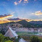 Amadorio Dam at sunset - panorama by Ralph Goldsmith
