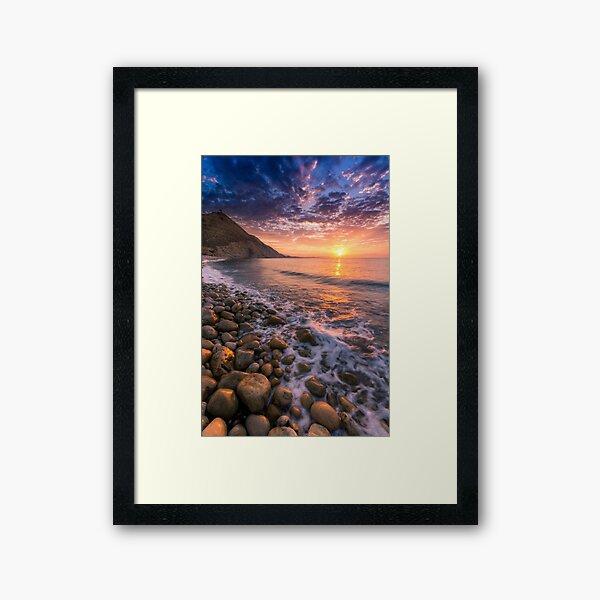 Sunrise at Reixes Lloma Framed Art Print