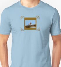 Bird in Blue Unisex T-Shirt