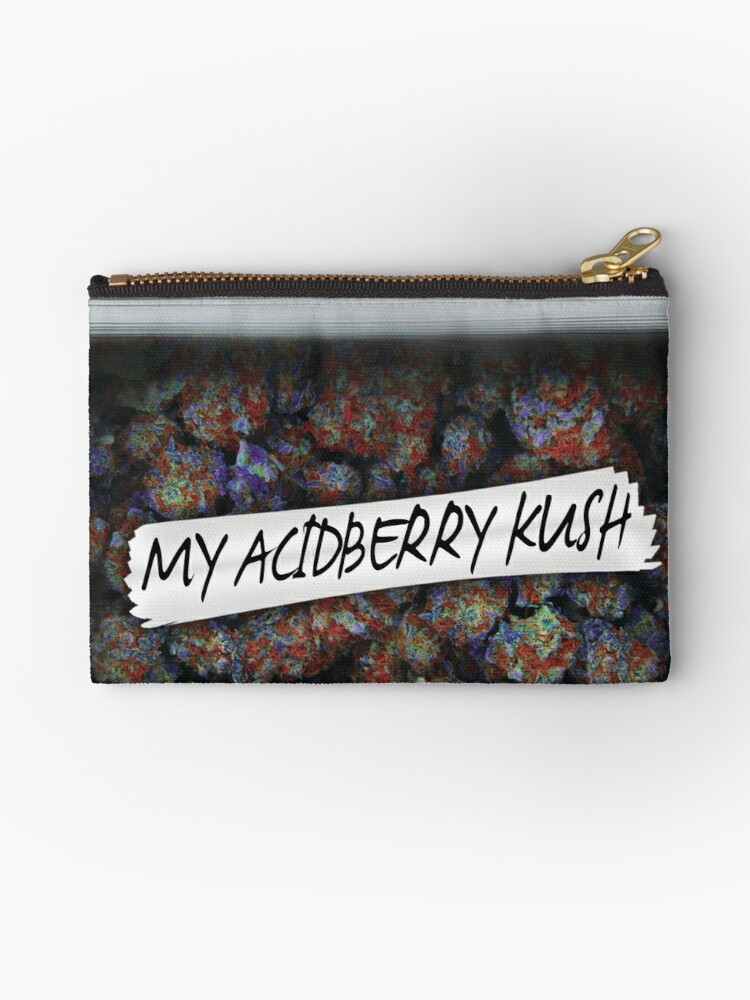 Weed acidberry kush Weed Purple Haze Cannabis design Floral hemp marijuana  | Zipper Pouch