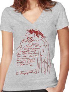 'Self-Harmer Support' Women's Fitted V-Neck T-Shirt