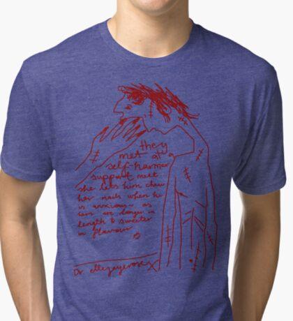 'Self-Harmer Support' Tri-blend T-Shirt
