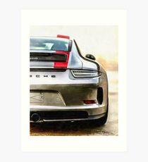 Lámina artística Porsche 911 R en el mundo (991) '2016