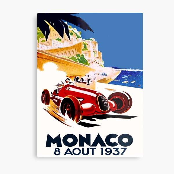 Automobile Car Race Monaco Grand Prix 1944  Europe Vintage Poster Repro FREE SH