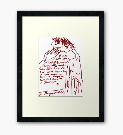 'Self-Harmer Support' Framed Print