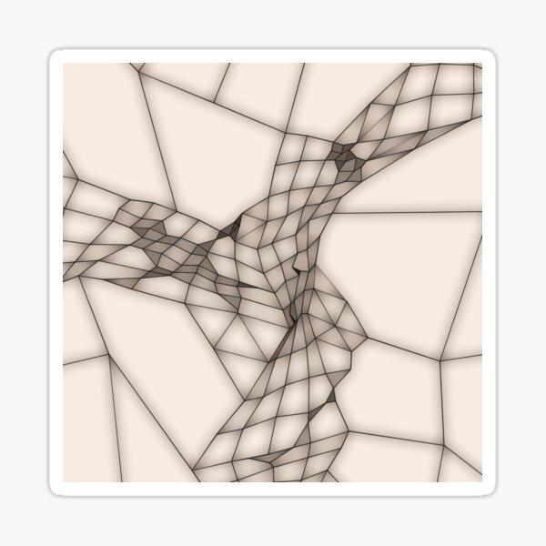 Abstraktes Netz in Beige-Braun Sticker