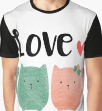 Cute Cats Graphic T-Shirt