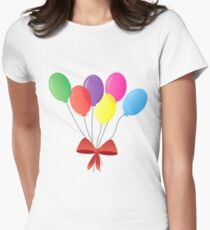 balloon bouquet - balloons set with red ribbon - cute and colorfull T-Shirt