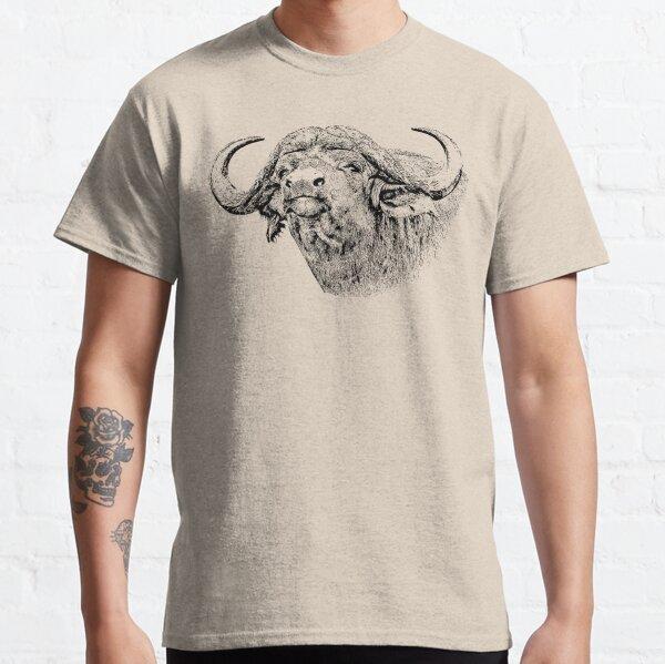 Cape Buffalo Bull, Close Up | African Wildlife Classic T-Shirt