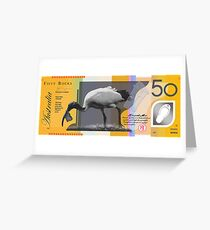 Ibis Fifty Bucks Greeting Card