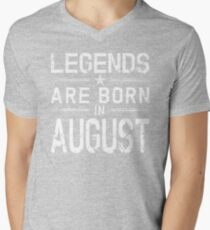 Legends Are Born In August Shirt - Vintage Distressed T-Shirt T-Shirt