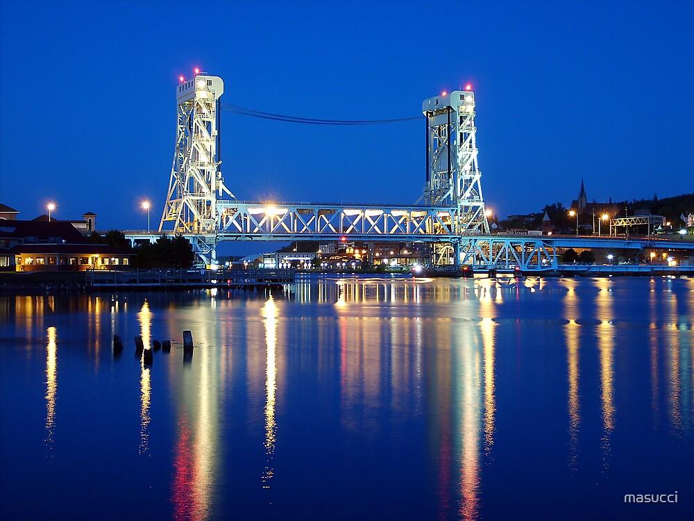 Night on the Portage Lift Bridge by masucci