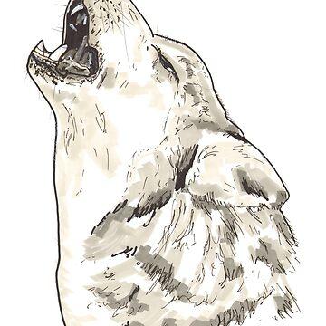Spirit of Wolf - Shamanic Art by Iank-as14