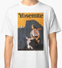 Yosemite, National Park, USA, Tourist vacation, vintage travel, poster Classic T-Shirt