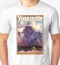 Yosemite, Mountain, National park, Vintage travel poster Unisex T-Shirt