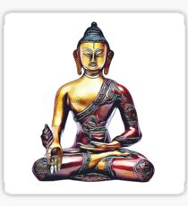 Illustration with Buddha Sticker