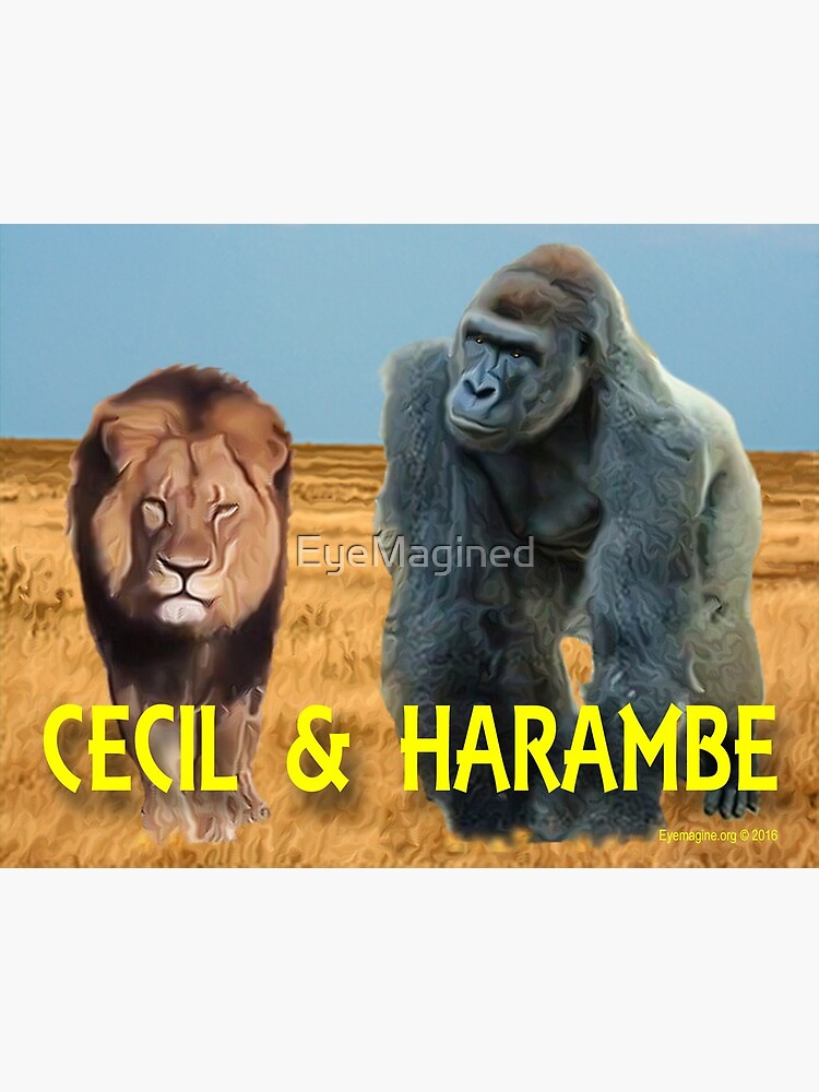 Harambe and Cecil Together by EyeMagined