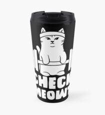 gym cat workout motivation kitty fitness weight good Travel Mug