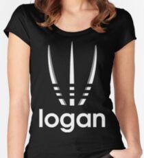 logan style movie parody logo Women's Fitted Scoop T-Shirt