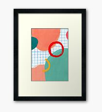 Abstract figures Framed Print