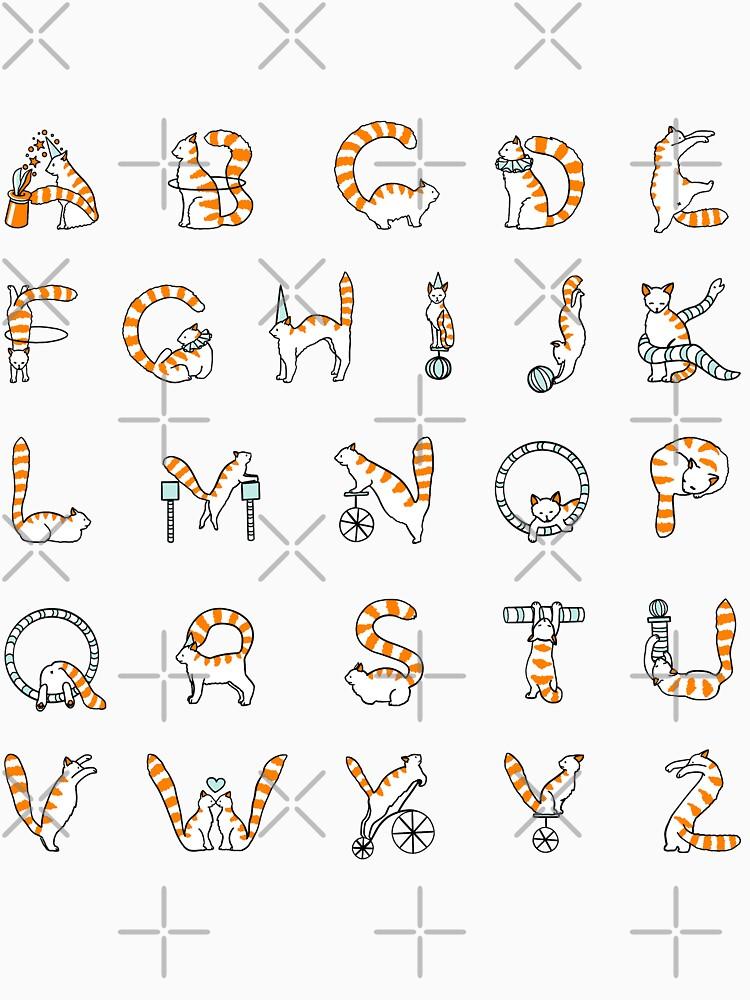 Circus cat alphabet by Elenanaylor
