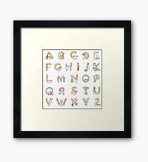 Circus cat alphabet Framed Print