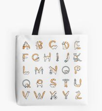 Circus cat alphabet Tote Bag