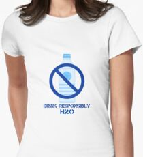Drink Responsibly H2-0 Womens Fitted T-Shirt