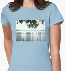 Trees Over CP Reservoir Fence Womens Fitted T-Shirt