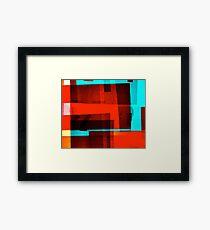Red Layer Framed Print