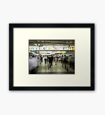Crowds at Shinjuku Station Framed Print