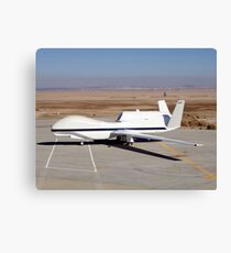 The Global Hawk unmanned aircraft. Canvas Print