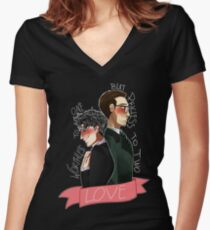 Nygmobblepot Love Women's Fitted V-Neck T-Shirt