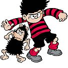 Dennis the Menace and Gnasher by red-rawlo