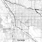 Tucson Karte Grau von HubertRoguski