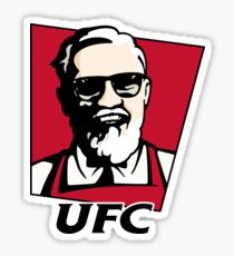 UFC KFC Shirt - Black Font Sticker