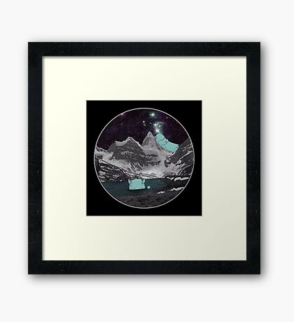 MONSTERS AT NIGHT Framed Print