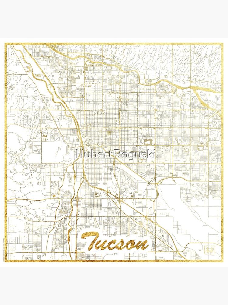 Tucson Map Gold by HubertRoguski