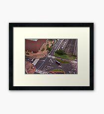 Urban Crosswalk Framed Print