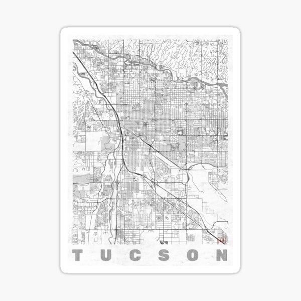Tucson Map Line Sticker