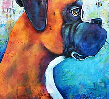 Boxer and the Bee by StephanieGerace